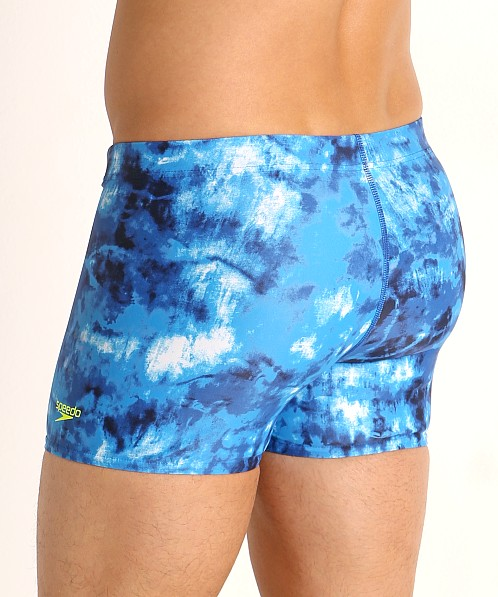 Speedo Tie Dye Square Leg Swim Trunk Ibiza Blue