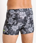 Speedo Fancy Floral Square Leg Swim Trunk Anthracite, view 4