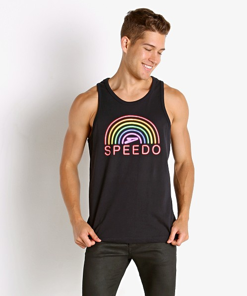 Speedo Rainbow Pride Tank Top Black