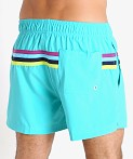 Speedo Colorblock Volley Swim Trunk Blue Atoll, view 4