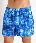 Speedo Tie Dye Volley Swim Trunk Peacoat, view 3