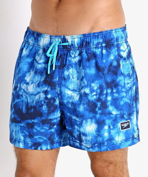 Speedo Tie Dye Volley Swim Trunk Peacoat