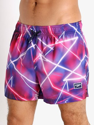 Model in byzantium Speedo Late Nite Neon Volley Swim Trunk