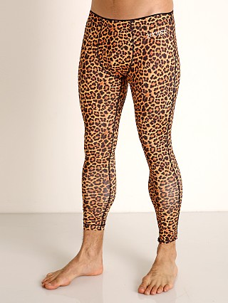 Model in photo real cheetah 2xist Performance Legging