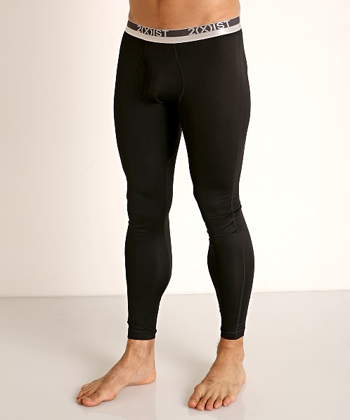 2xist Speed Dri Sterling Long Underwear Black Onyx