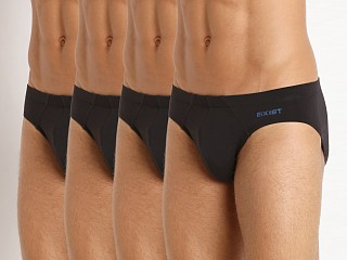2xist Stretch Fashion Bikini Brief 4-Pack Black