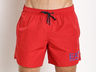Emporio Armani Sea World Swim Shorts Red
