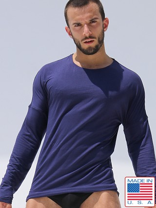 Rufskin Hugo Rayon/Lycra Long Sleeve Tee Navy