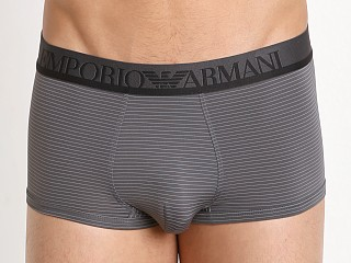Emporio Armani Yarn Dyed Microfiber Trunk Anthracite