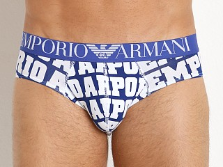 Emporio Armani Logomania Brief Electric Blue