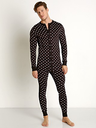 2xist Essential Union Suit Candy Print Black