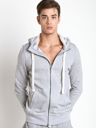 2xist Active Core Terry Zip-Up Hoodie Light Grey Heather