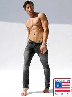 Rufskin Marvin Distressed Denim Jeans Black
