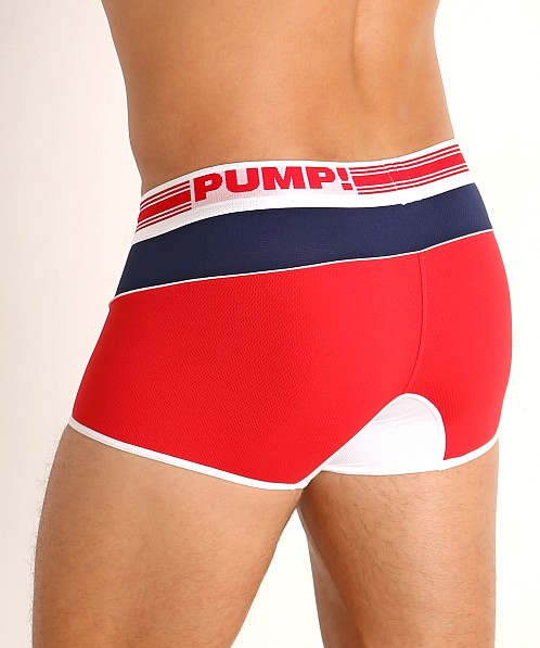 Pump! Academy Micro Mesh Free-Fit Boxer Red/White/Blue