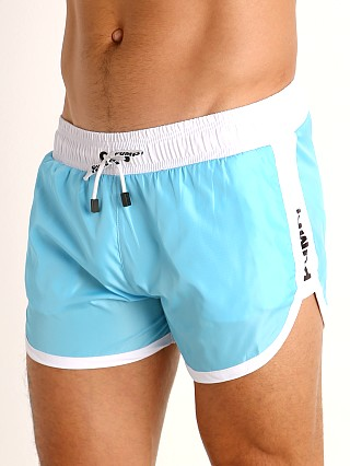 Model in aqua Pump! Micro-Fiber Watershort Trunk