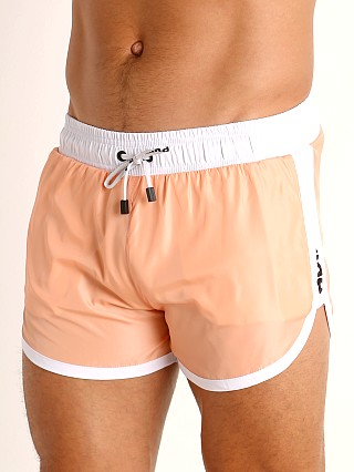 Model in coral Pump! Micro-Fiber Watershort Trunk