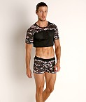 Cell Block 13 Foxhole Camo Mesh Crop Top Grey, view 1