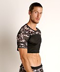 Cell Block 13 Foxhole Camo Mesh Crop Top Grey, view 3