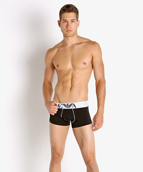 Emporio Armani Iconic Waistband Trunk Black