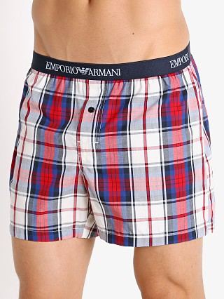 You may also like: Emporio Armani Yarn Dyed Woven Boxer Shorts Check Marine