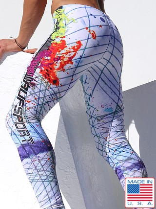Rufskin Nova 2-Panel Sport Tights Galaxy Print White