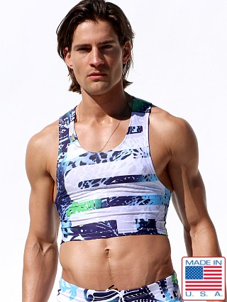 Model in ruf print Rufskin Ruf Cropped Tank Top