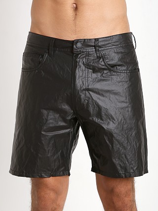 Diesel Waykeeki-F Leather Coating Shorts Black