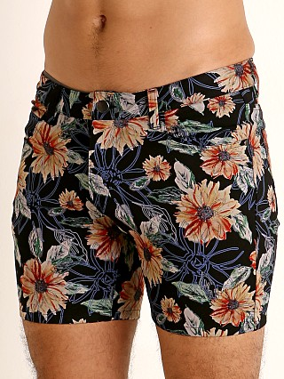 St33le Knit Jeans Shorts Yellow/Navy Floral