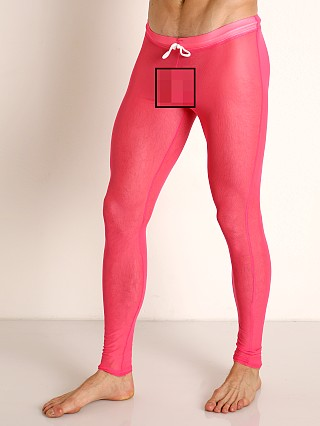 Model in pink McKillop Sleek Seduce Mesh Lounge Tights
