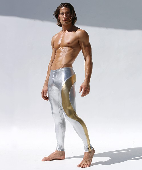 Rufskin Portalet Metallic Stretch Leggings Silver/Gold