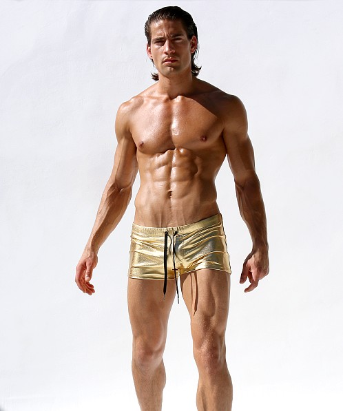 Rufskin Martinez Stretch Knit Swim Shorts Gold