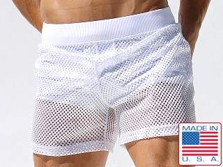 Rufskin Goal King Mesh Boxing Shorts White