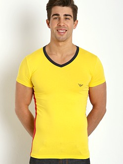 Emporio Armani Tricot V-Neck Shirt Sun Yellow
