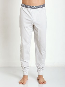 Emporio Armani 100% Cotton Lounge Pants Pearl Grey