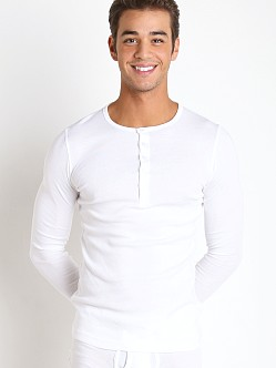 2xist Essential Long Sleeve Henley White