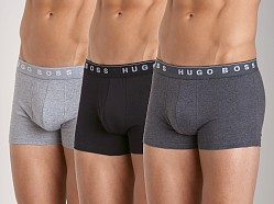 Hugo Boss Pure Cotton Boxer 3 Pack Charcoal/Black/Grey