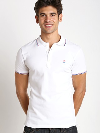 Diesel T-Skin Piquet Polo Shirt Bright White
