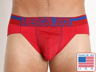 American Jock Athletics Hi-Cut Brief Red/Royal