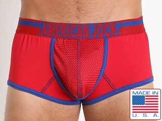American Jock Athletics Enhancing Trunk Red/Royal