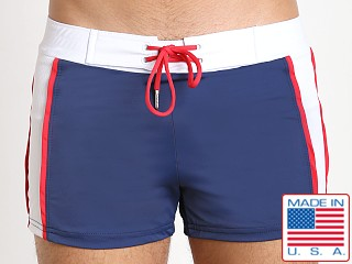 Sauvage Patriot Sport Swim Trunk Navy White Red