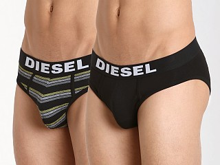 Diesel All Over Stripes Andre Brief 3-Pack Black