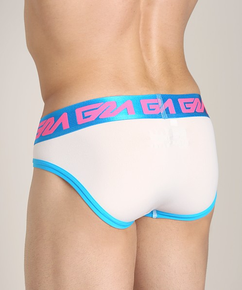 Garcon Model Raleigh Briefs White/Blue/Pink