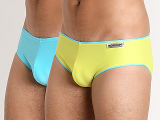 Modus Vivendi Double Face Reversible Swim Brief Yellow/Aqua
