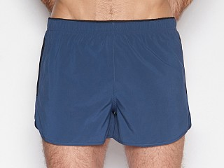 Model in abyss navy C-IN2 Grip Athletic Run Short