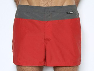 Model in false alarm C-IN2 Woven Swim Shorts