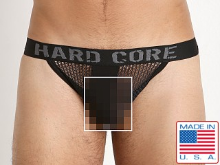 Model in black Go Softwear Hard Core Chain Link Mesh Jockstrap