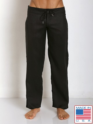 Sauvage 100% Laundered Roma Linen Tropical Pant Black