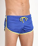 Jack Adams Air Mesh Track Short Royal/Yellow, view 3