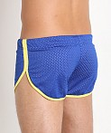 Jack Adams Air Mesh Track Short Royal/Yellow, view 4