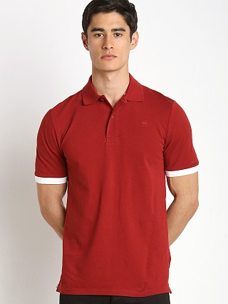 G-Star Pitro Contrast Polo Shirt Dry Red